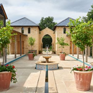 The courtyard of the pavilion
